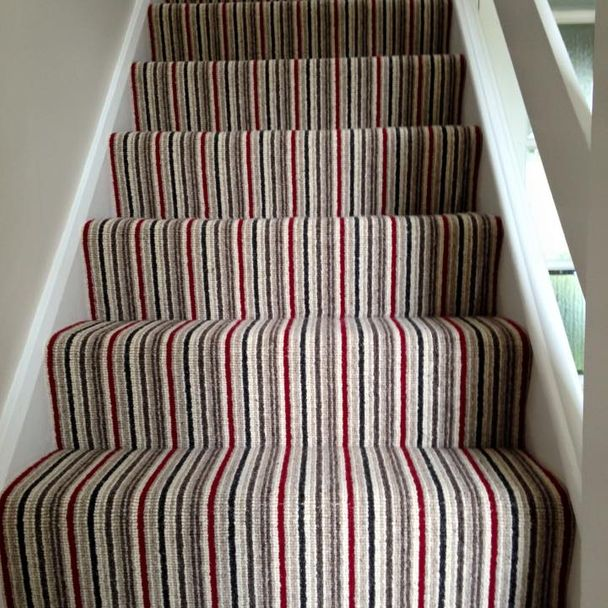 patterned carpet stairs